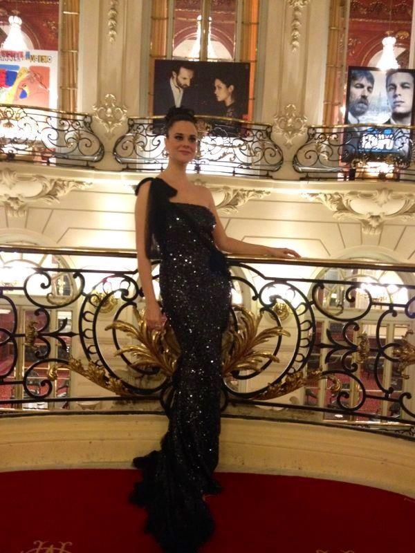 Ainhoa Duque , espectacular en los premio Goya con un Atelier Alicia Rueda