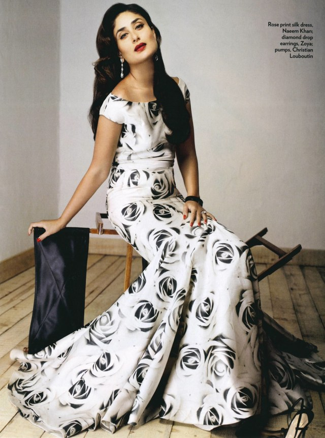 Kareena Kapoor in Naeem Khan in Marie Claire India
