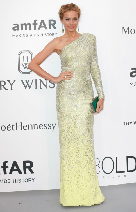 Petra Nemcova in Versace Cannes 2015