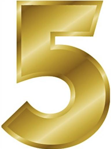 5 gold number