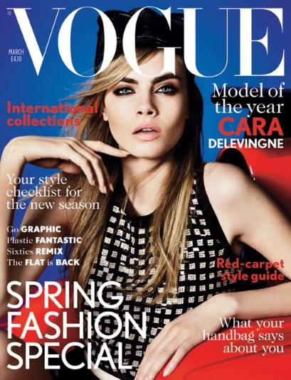 Model of the year VOGUE Cara Delevingne