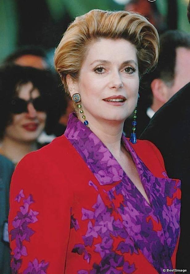 Catherine Deneuve  Yves Saint Laurent  Cannes 1991
